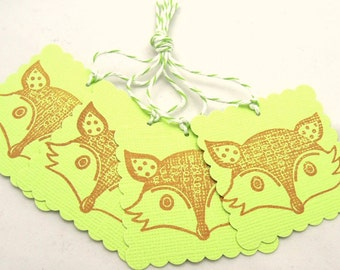 Foxy Lady Gift Tags - Set of 4 Tags