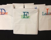 Monogrammed Pillowcase for Kids | Name/ Initial Pillow Case | Bedroom | Kids Bed | Sleepover | Lucy's Pocket | Monogram | Embroidered