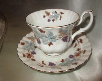 "Royal Albert Bone China Tea Cup and Saucer ""Lorraine"""