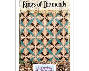 Ring of Diamonds Quilt Pattern by Carolina Patchworks