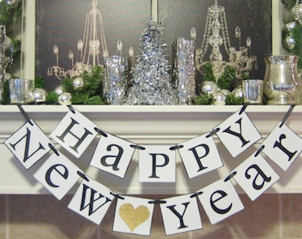New Year banner, New Years party, New Years Decorations, Decor, New ...