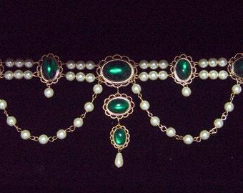 Renaissance Bodice Jewels, Medieval Bodice Jewels, Medieval Jewelry, Renaissance Jewelry, U PICK Color, Tudor Jewels, Brooch Brass Adornment