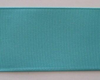 Grosgrain Ribbon Deep Aqua- 50 yds 2 1/4 inch wide