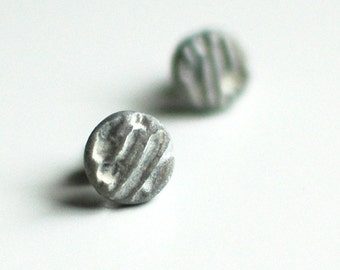 Blizzard textured post earrings