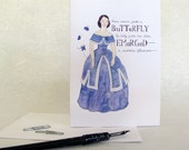 CLEARANCE Emily Dickinson Card - Poetry - Victorian