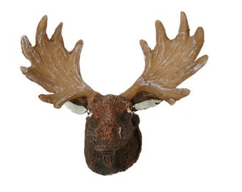 Miniature Moose Head with Antlers