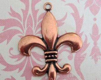 NEW Copper Fleur de Lis Charm 3541C