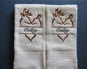 Buck and Doe Personalized HAND/KITCHEN Towels - Set of 2 - Custom Orders Welcome