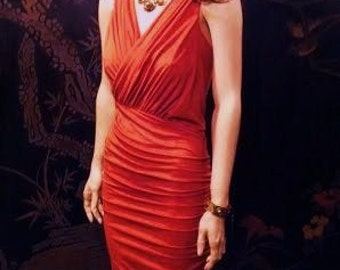 Sexy ruched burnt orange DRESS