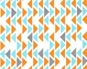 """Fitted Crib Sheet in """"Technicolor Triangles"""", Modern Nursery Bedding, Gender Neutral"""