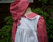 Laura Ingalls dress/Little House Prairie Costume..Front buttoned . Special Order ONLY...PLEASE read lead time inside ad.