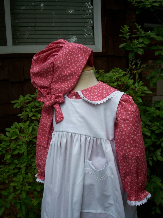 Victorian Kids Costumes & Shoes- Girls, Boys, Baby, Toddler Laura Ingalls dress/Little House Prairie Costume..Front buttoned . Special Order ONLY...PLEASE read lead time inside ad. $70.00 AT vintagedancer.com