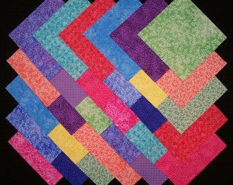 MIXED BRIGHTS 100% cotton Prewashed 5 inch, Quilt Fabric Squares (#D/92A)