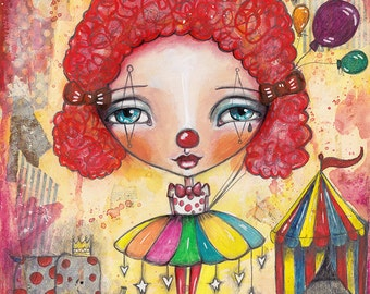 Clown Girl - Art Print