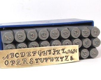 3MM Swanky Metal Alphabet upper case stamps for hand word stamping for Initial stamping - Nice twist -