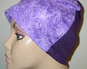 Dragonflies Print  Lightweight  Hat -Chemo, Cancer, Alopecia, Sleep Cap, Summer Chemo Hat