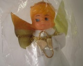 Vintage Christmas Tree Topper ornament Gold Angel Retro in the Package