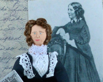 Harriet Beecher Stowe Doll Miniature Art Classic Literature Author