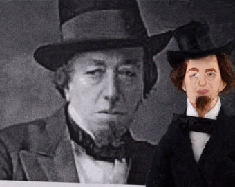 Benjamin Disraeli Historical Doll Art Miniature British Politics Prime Minister