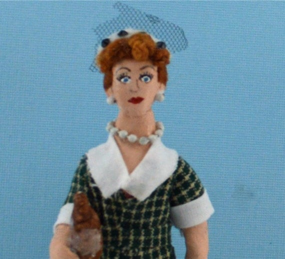 Lucille Ball Doll Miniature 1950's Television Art Character