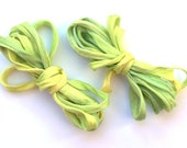 Sowzere - NEW Lemon and Lime Fizz Handmade hand dyed pure silk strings.