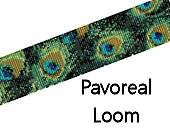 Bead Loom Bracelet Pattern Pavoreal Peacock Feathers Digital PDF