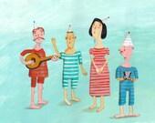 Funny Musicians  Original painting