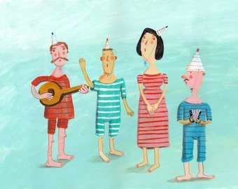 Funny Musicians  Original painting