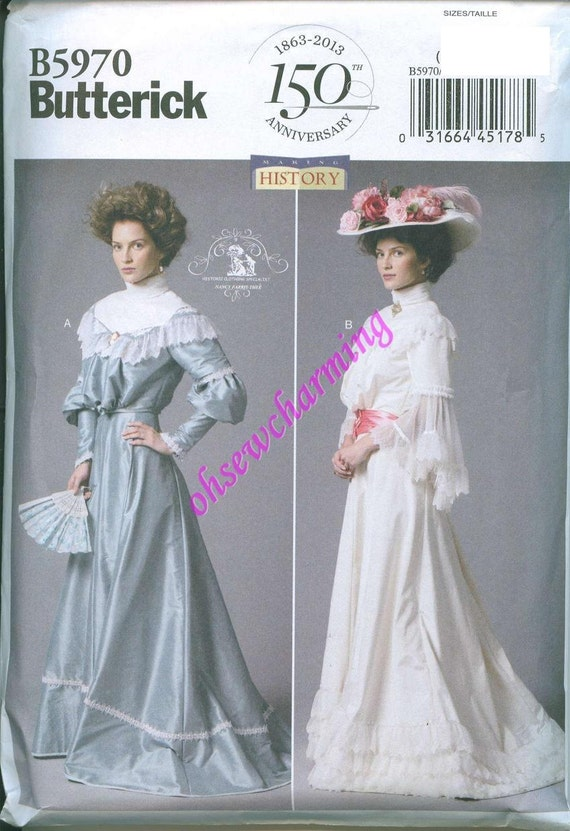 Butterick 5970 Edwardian Costume Sewing Pattern Sizes 16-18-20-22-24 Early 20th Century