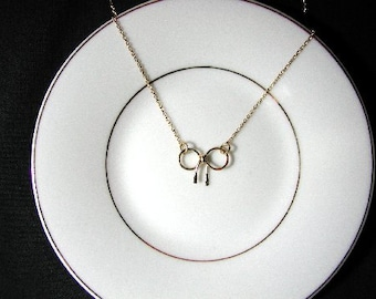 Tie The Knot Gold Filled Necklace, Bridesmaids, Bride Jewelry