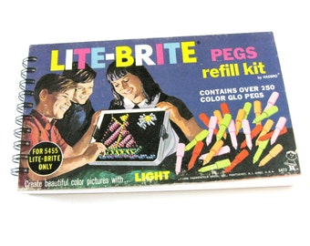 Lite Brite Journal // Recycled Vintage Toy Box // Notebook or Sketchbook