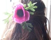 Pink Poppy Hair Clip