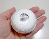 Tatting Thread, Lizbeth Size 20 Cotton Crochet Thread Snow White Color number 601, White Thread