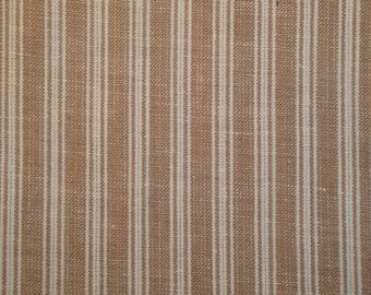 Cotton Homespun Fabric Wheat Ticking Stripe 1 Yard