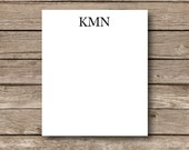 Personalized Note pads,classic 3 letter monogram, men's desk pads, office supplies, personalized office supplies, Business Attire set of 2