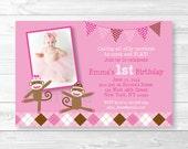 Pink Sock Monkey Birthday...