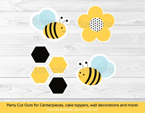 Cute Bumble Bee Cut Outs / Bumble Bee Baby Shower / Bumble Bee