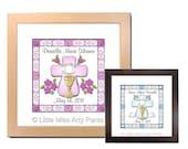Birth Announcement Print - Communion Cross Design