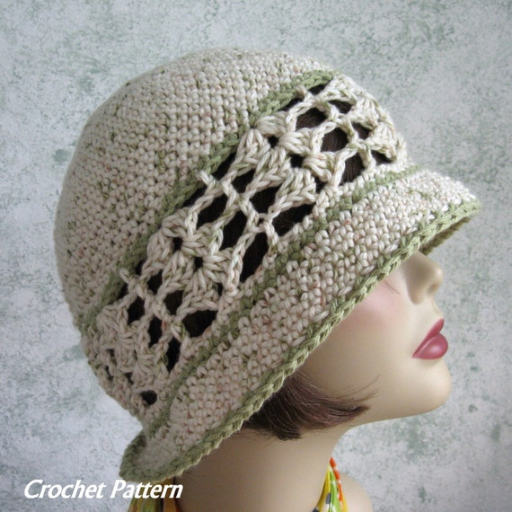 Womens Summer Crochet Hat Pattern Brimmed With Shell Stitch