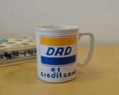 Vintage Dad Number One Credit Card Mug
