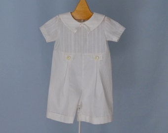 Baby Boy Christening Outfit  Cream Ivory Preemie to 12 month sizes