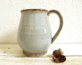 Coffee Cup Celtic Design Stoneware Pottery Ceramic Mug Large 18 oz
