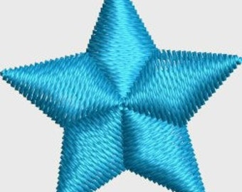 Mini 3 D star machine embroidery designs