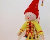 Felt Art Doll Hand embroidered Pixie