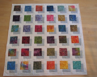 Color Block lap quilt/wallhanging - CLEARANCE