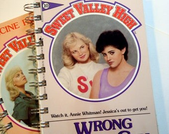 Sweet Valley High Notebook  / Upcycled Sweet Valley Journal / Sister Gift