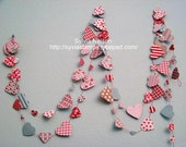 Valentine Special...9 Feet Pink and Red Heart Garland