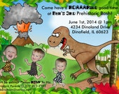 Printable Dinosaur Birthday Party Invitation BONUS Thank You Design - Perfect for older dinosaur lovers