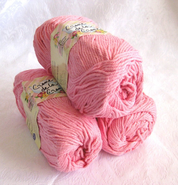 Creme de la creme ORCHID PINK Cotton Yarn,  worsted weight, baby pink