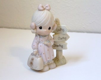 Vintage 'Loving Caring and Sharing Along the Way' Precious Moments Collector's Club Figurine